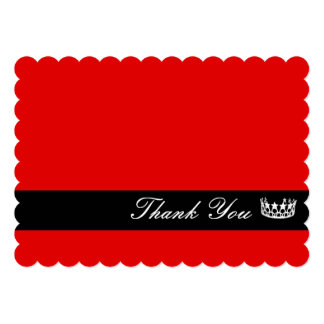 """Crown Thank You Note Card 5"""" X 7"""" Invitation Card"""