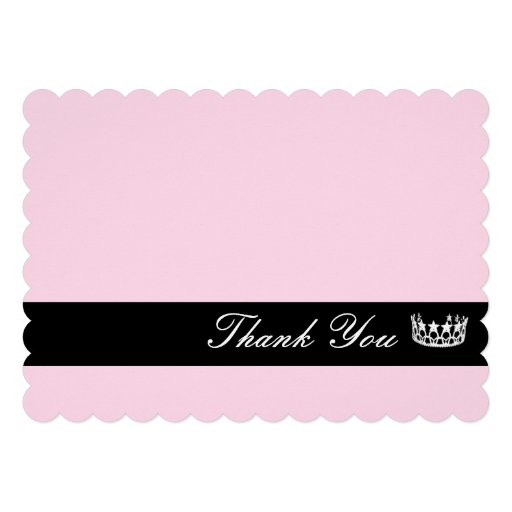 Crown Thank You Note Card