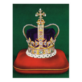 Crown used at coronastion of Queen Elizabeth II Postcard