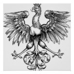 Crown Vintage Polish Eagle Art Print Posters