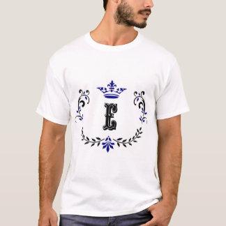 Crown Wreath Monogram 'E' T-Shirt