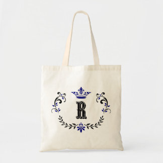 Crown Wreath Monogram 'R' Tote Bag