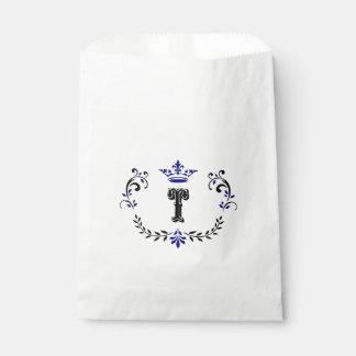 Crown Wreath Monogram 'T' Favour Bag