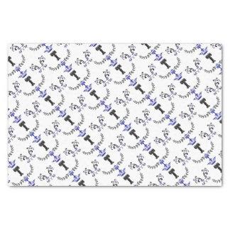 Crown Wreath Monogram 'T' Tissue Paper