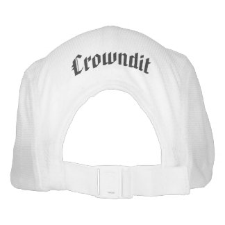 crowndit grey and white hat