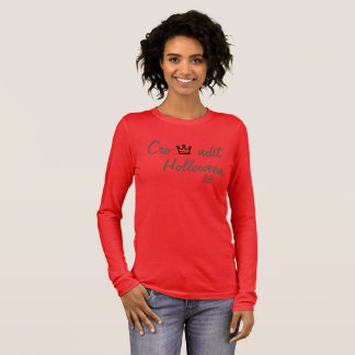Crowndit holloween women red long sleeve long sleeve T-Shirt