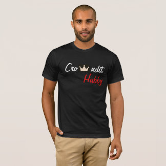 Crowndit hubby red and black T-Shirt