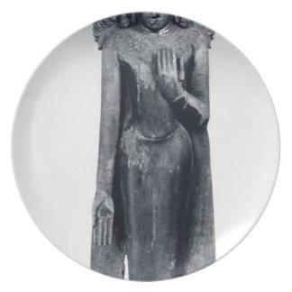 Crowned Buddha - Pagan period Dinner Plates
