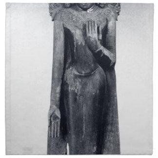Crowned Buddha - Pagan period Napkin
