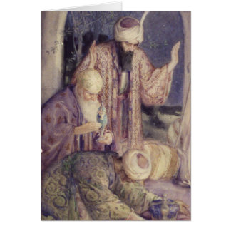 Crowned By Three Kings Vintage Christmas Card