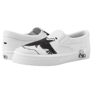 Crowned Dove Zips Slip On Shoes