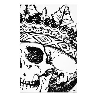 Crowned Skull Custom Stationery