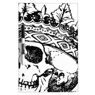 Crowned Skull Dry Erase White Board
