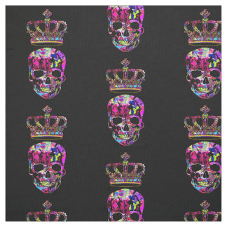 Crowned skull fabric