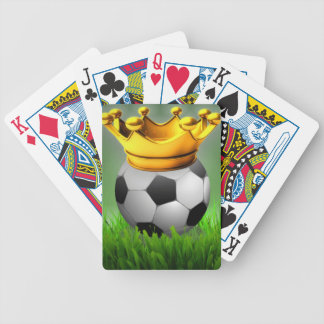 Crowned Soccer Bicycle Playing Cards