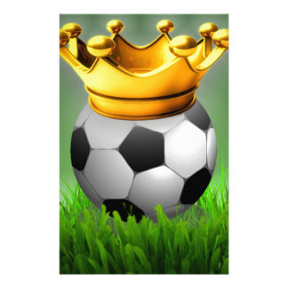 Crowned Soccer Customized Stationery