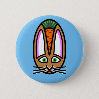 Crowned With A Carrot 2 Inch Round Button