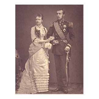 CROWNPRINCE RUDOLF & STEPHANIE of Austria #002H Postcard