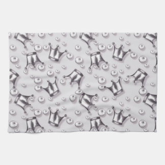 Crowns and pearls kitchen towel