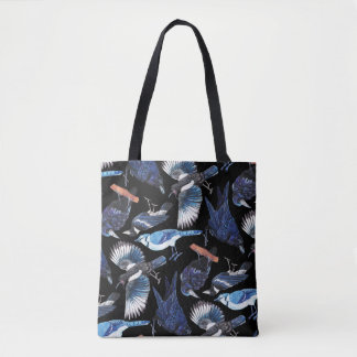 Crows and Corvids Black Tote Bag