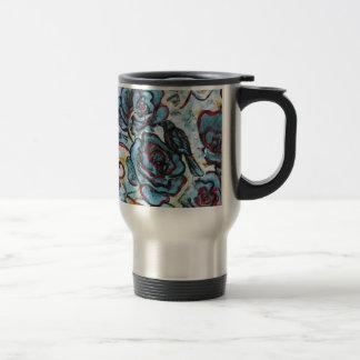 Crows and Roses, Fine Art Traveler Mug