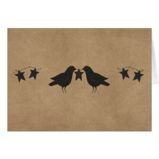 Crows And Stars Note Card