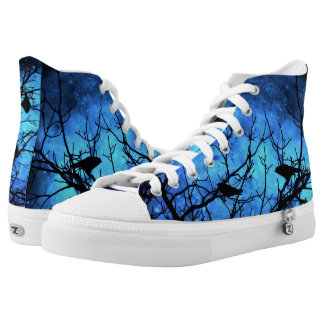 Crows-Attempted Murder Blue Nebula Hightop ZIPZ High Tops