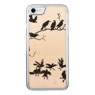 Crows Carved iPhone 7 Case