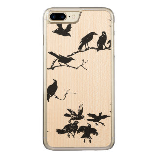 Crows Carved iPhone 7 Plus Case