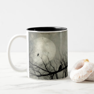 Crows In A Row Two-Tone Coffee Mug
