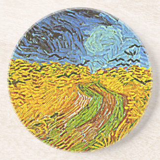 Crows in a Wheatfield Coaster