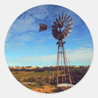 crows nest windmill round sticker