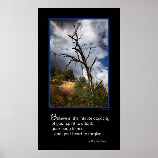 Croyez en capacité infinie de votre esprit… poster