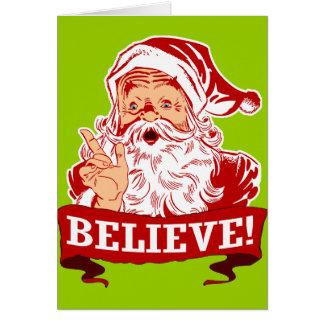 Croyez en père noël carte de vœux