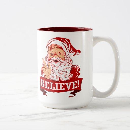 Croyez en père noël tasses à café