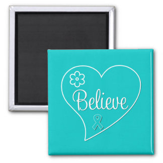 Croyez la conscience de syndrome de Tourette Magnets Pour Réfrigérateur