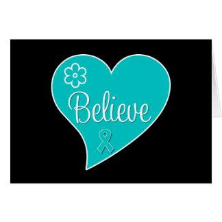Croyez la conscience de syndrome de Tourette Cartes