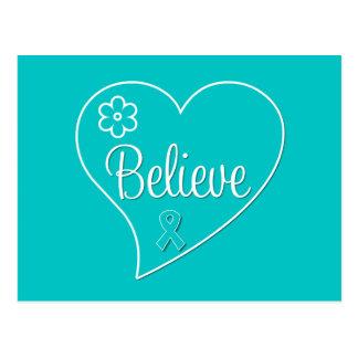 Croyez la conscience de syndrome de Tourette Carte Postale