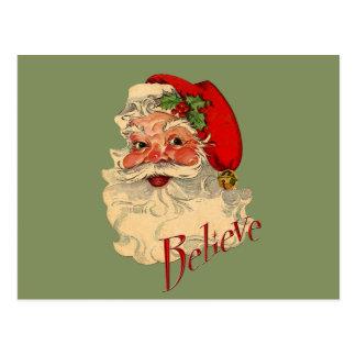 Croyez Père Noël Carte Postale