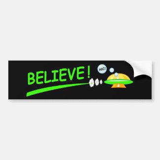 Croyez ! UFO Autocollant De Voiture