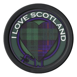 Crozier clan Plaid Scottish kilt tartan Poker Chips