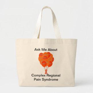 CRPS RSD Balloons Hope Over Pain Phoenix Ribbon Large Tote Bag