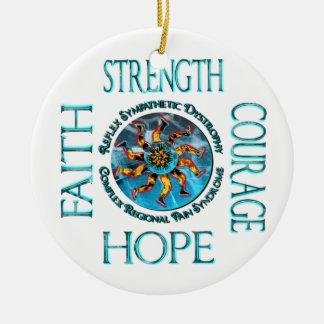 CRPS RSD Strength Courage Hope Faith Ornament