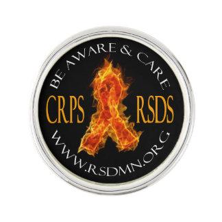 CRPS / RSDS Flame Ribbon Lapen Pin