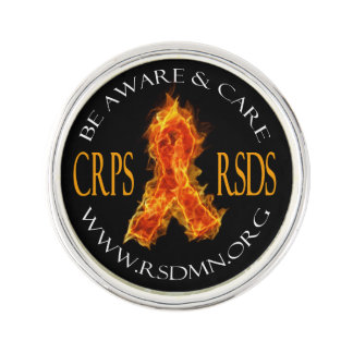 CRPS / RSDS Flame Ribbon Lapen Pin Lapel Pin