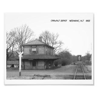 CRR of NJ Train Station, Neshanic, NJ Vintage Photographic Print