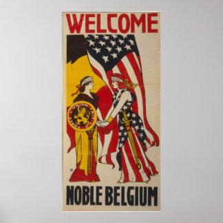 Cru Belgique noble bienvenue Posters