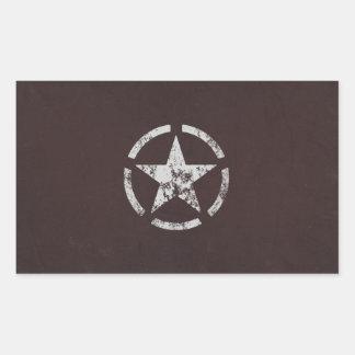Cru blanc allié d'étoile des USA Autocollant