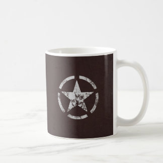 Cru blanc allié d'étoile des USA Mug Blanc