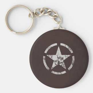Cru blanc allié d'étoile des USA Porte-clefs
